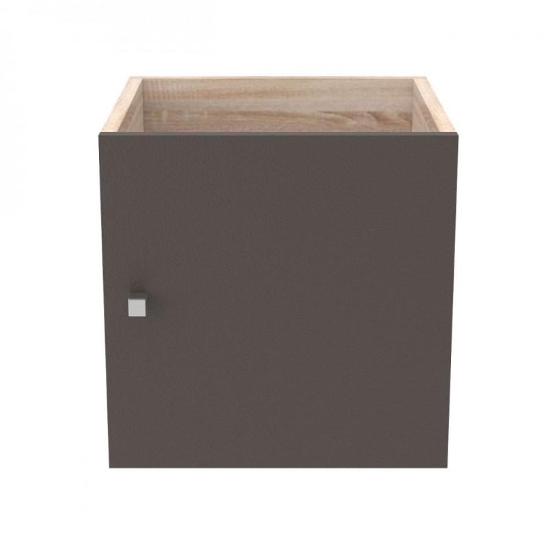 """Κουτί με πορτάκι """"SHELVING"""" σε χρώμα μπρονζέ 37x34x37"""