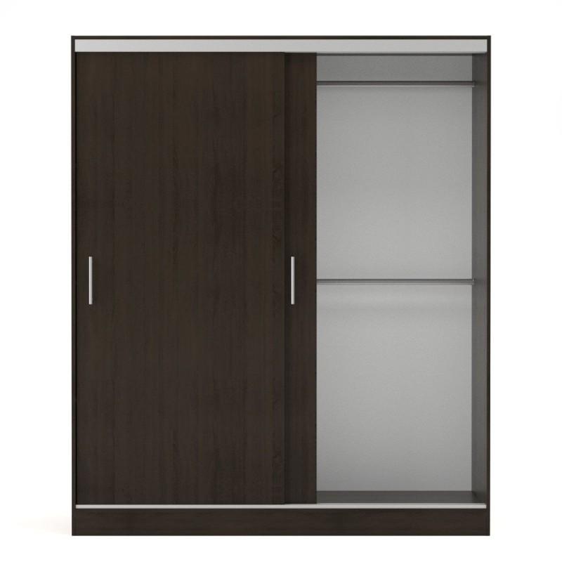 """Ντουλάπα """"MONALISA"""" δίφυλλη με συρόμενες πόρτες σε χρώμα βεγγε (Σοκολά) 180x60x215"""