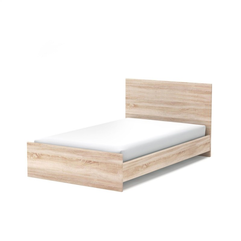 """Κρεβάτι """"FILLIA 120"""" ημίδιπλο χρώματος σονόμα-δρυς 128x207x95"""