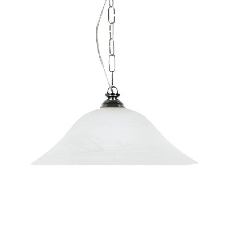 Φωτιστικό μονόφωτο γυάλινο σε λευκό χρώμα 40εκ.