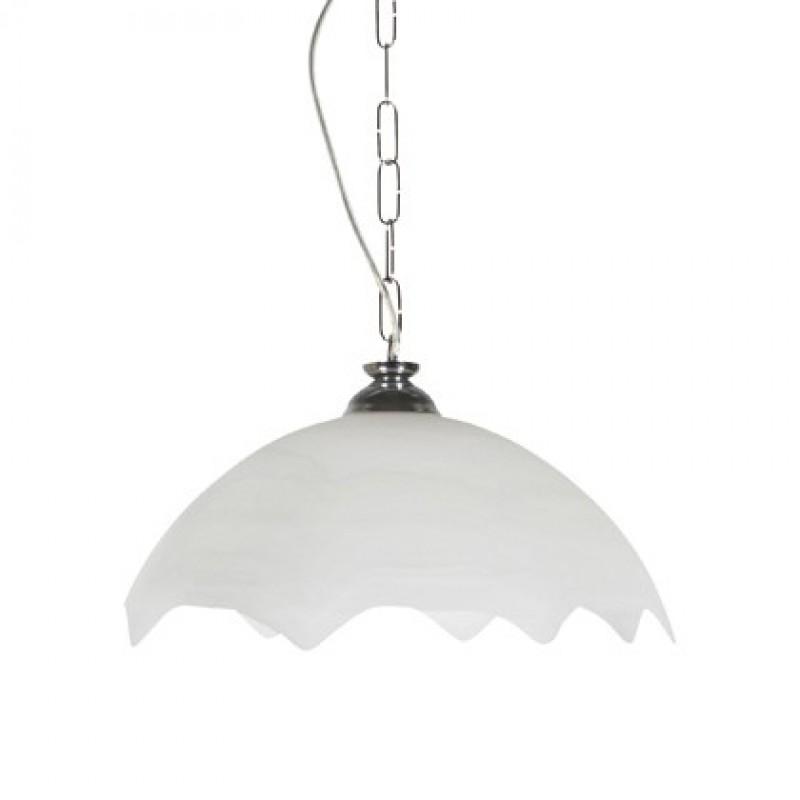 Φωτιστικό μονόφωτο γυάλινο σε λευκό χρώμα 34εκ.
