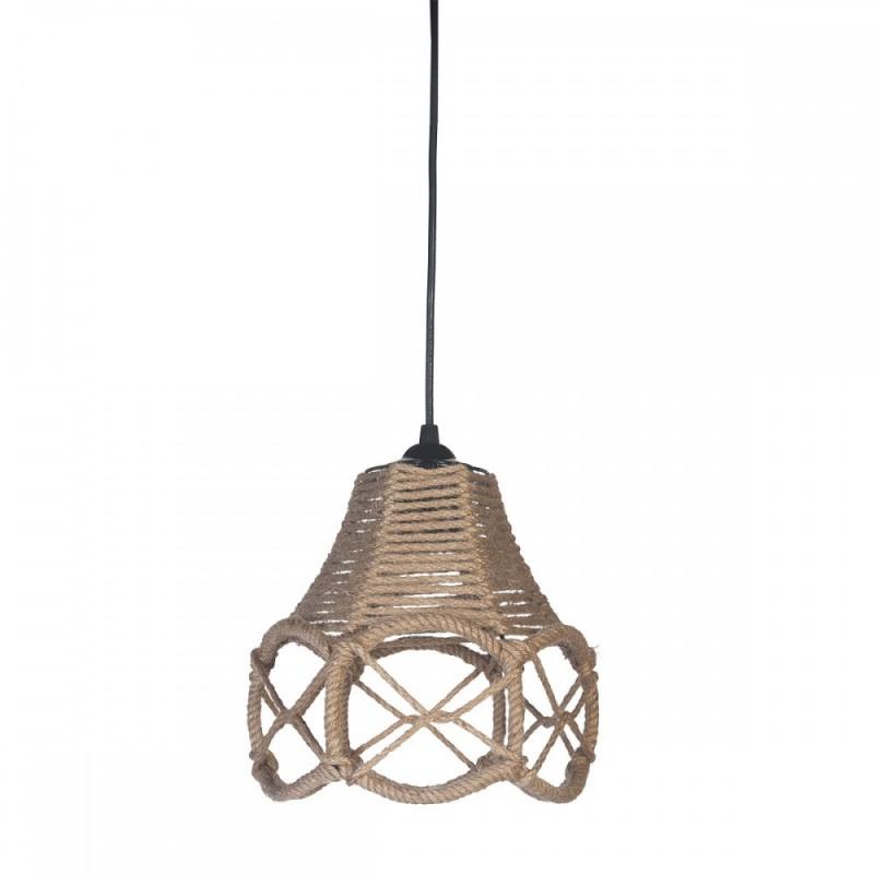 Φωτιστικό μεταλλικό με σχοινί σε φυσικό χρώμα 18x25