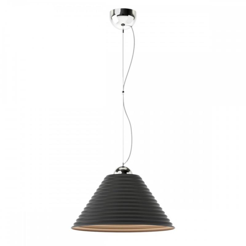 Φωτιστικό γυάλινο σε μαύρο-χρυσό χρώμα Φ30