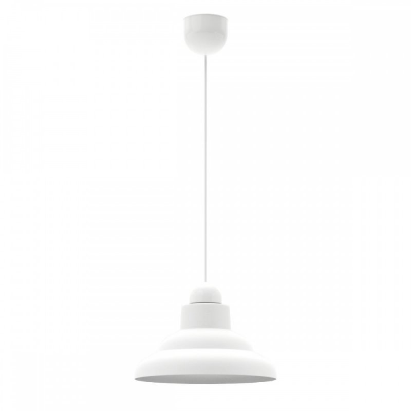 Φωτιστικό γυάλινο σε λευκό-ασημί χρώμα Φ25