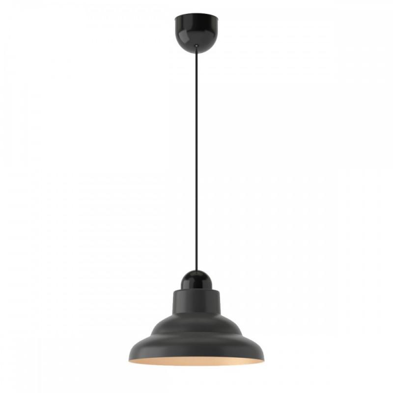 Φωτιστικό γυάλινο σε μαύρο-χρυσό χρώμα Φ25