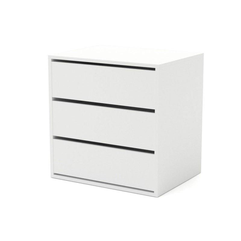 """Συρταριέρα """"VERONA"""" ξύλινη σε λευκό χρώμα 64,7x49,5x65"""