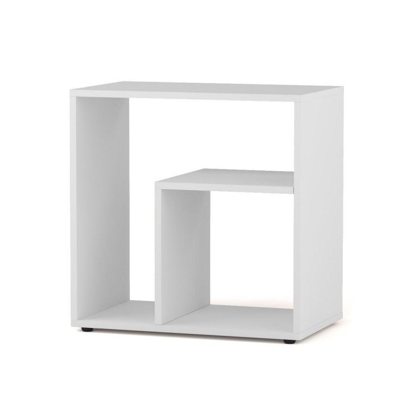 """Βοηθητικό τραπεζάκι σαλονιού """"ZEITO"""" σε λευκό χρώμα 49,5x30x52,3"""