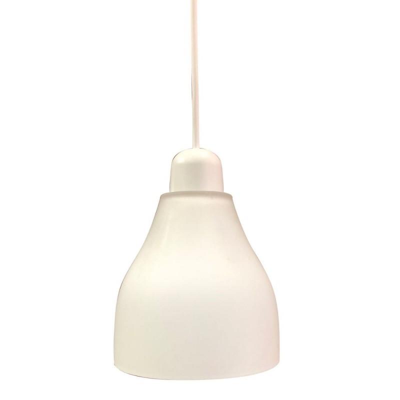 Φωτιστικό γυάλινο σε λευκό χρώμα 14cm