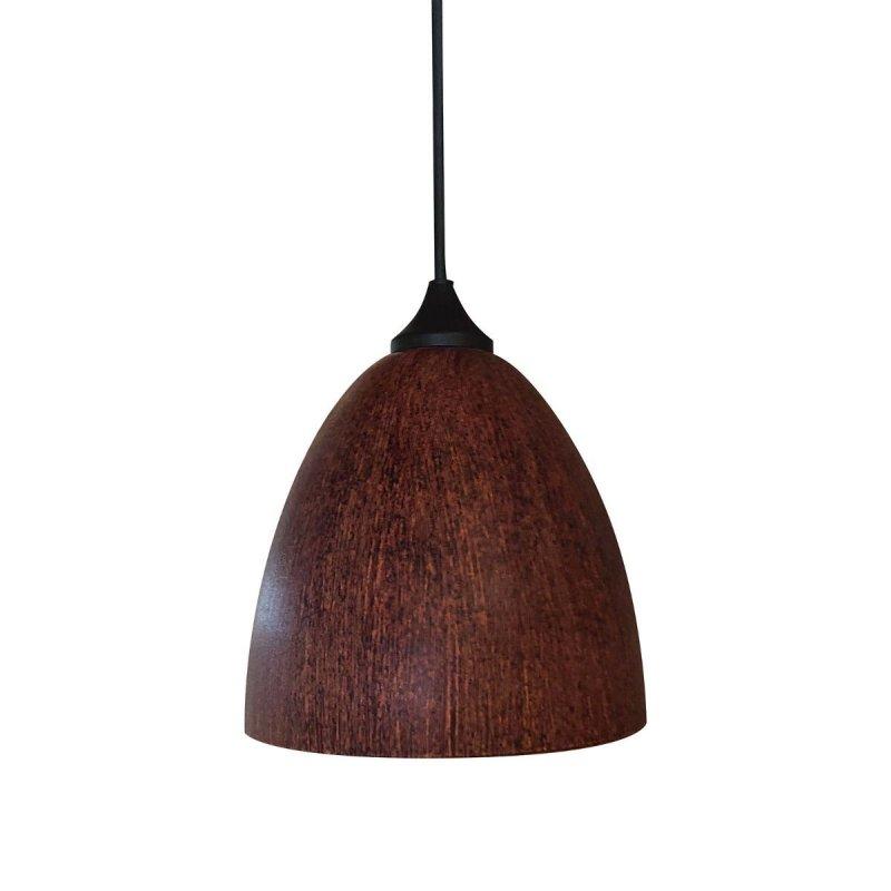 Φωτιστικό μονόφωτο γυάλινο σε καφέ χρώμα 17cm