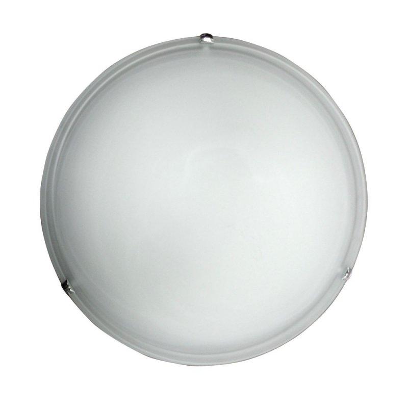 Φωτιστικό οροφής γυάλινο (2 λάμπες) σε λευκό χρώμα Φ40