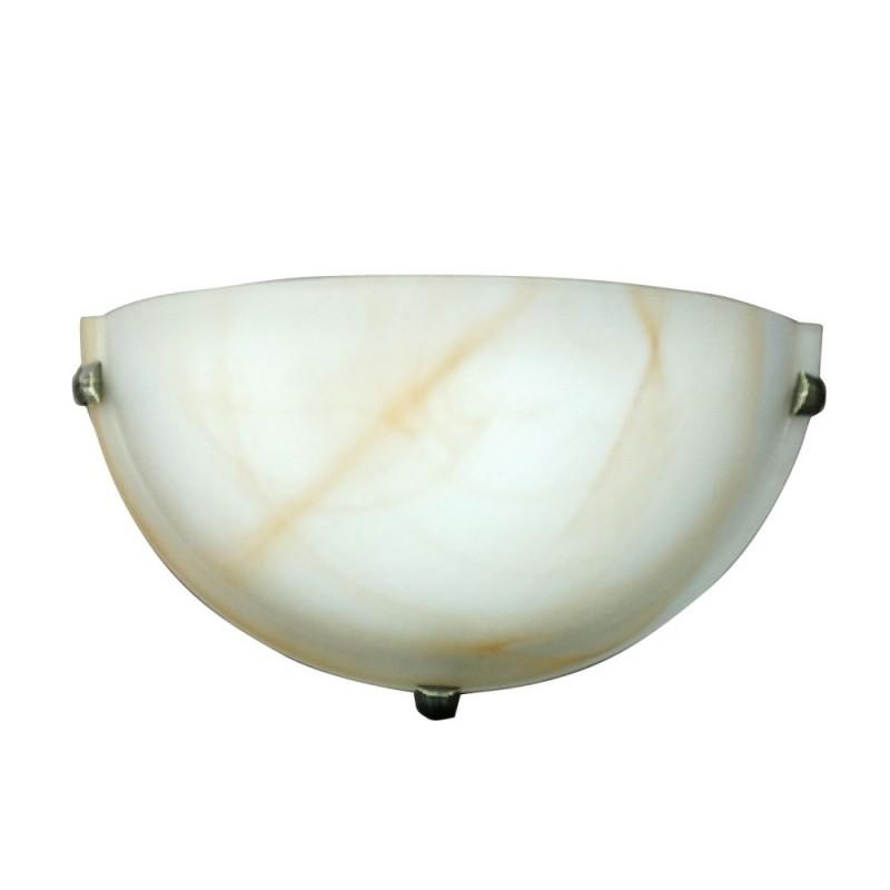 Φωτιστικό τοίχου γυάλινο σε μελί χρώμα Φ30x15