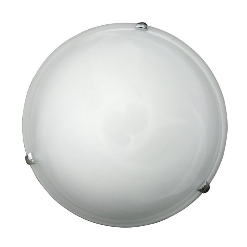 Φωτιστικό οροφής γυάλινο σε λευκό χρώμα Φ30