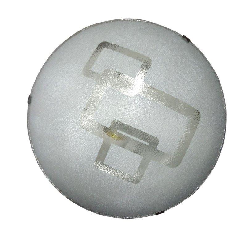 Φωτιστικό οροφής γυάλινο σε λευκό χρώμα Φ34
