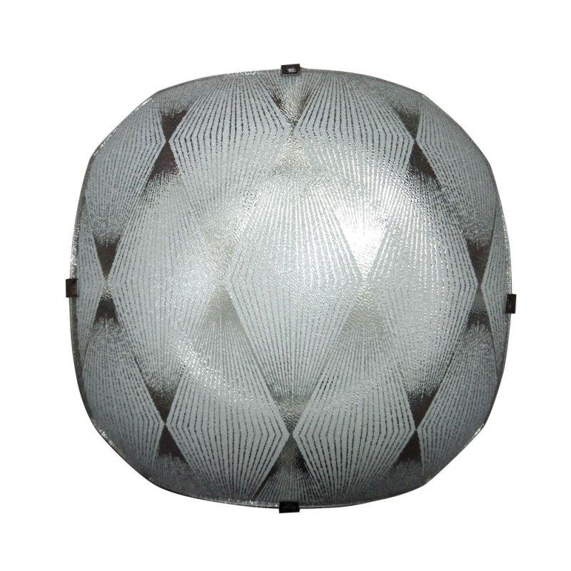Φωτιστικό οροφής γυάλινο σε λευκό χρώμα 29x29