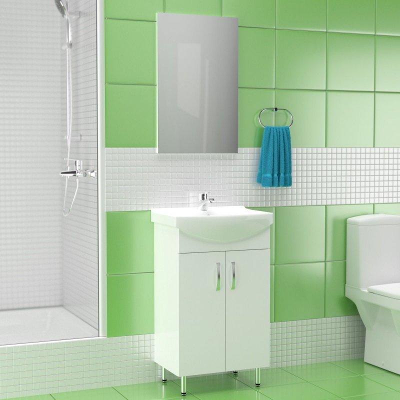"""Σετ μπάνιου """"CERSANIA"""" κρεμαστό σε λευκό χρώμα 50x32"""