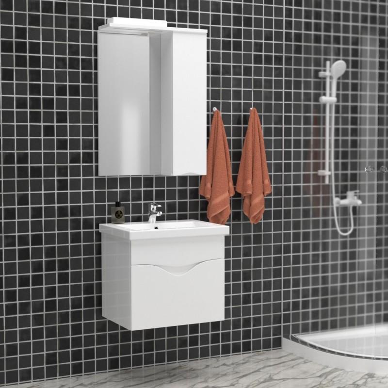"""Σετ μπάνιου """"SMILE"""" κρεμαστό σε λευκό χρώμα 60x45x53"""