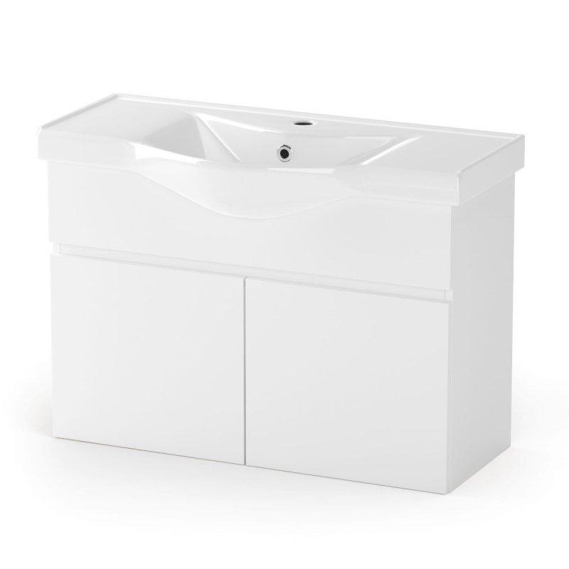 """Έπιπλο μπάνιου """"BIANCA"""" σε λευκό χρώμα 90x45x62"""