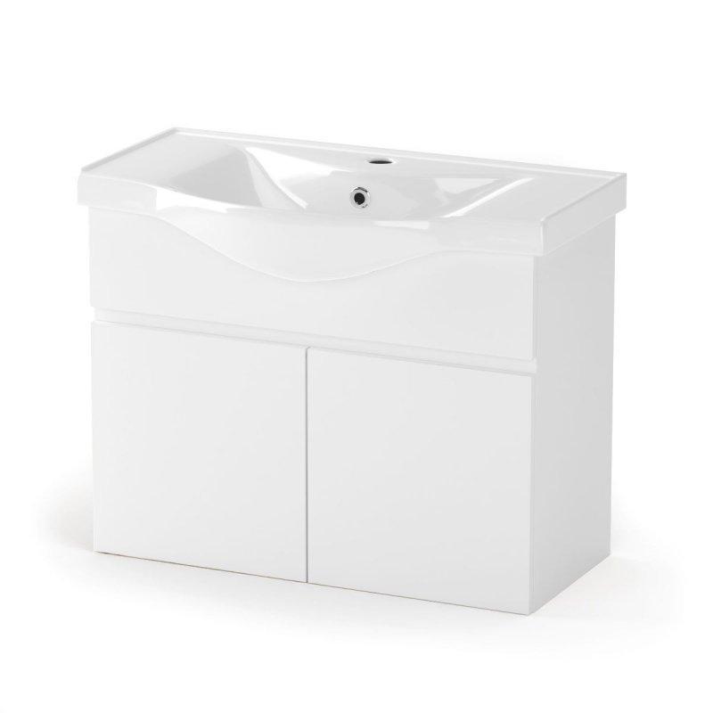 """Έπιπλο μπάνιου """"BIANCA"""" σε λευκό χρώμα 85x45x62"""