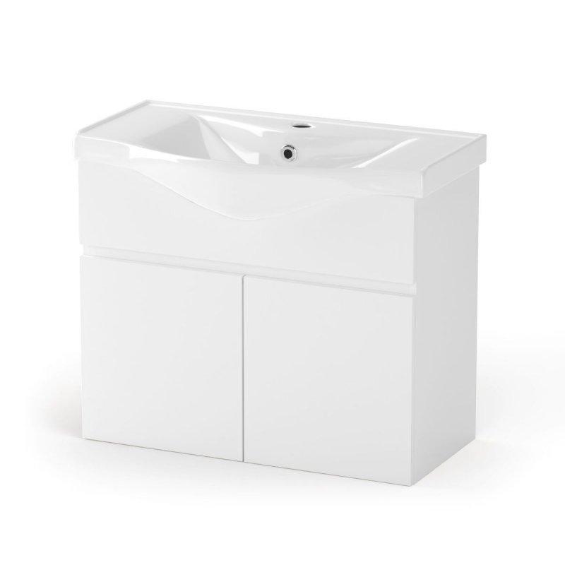 """Έπιπλο μπάνιου """"BIANCA"""" σε λευκό χρώμα 75x45x62"""