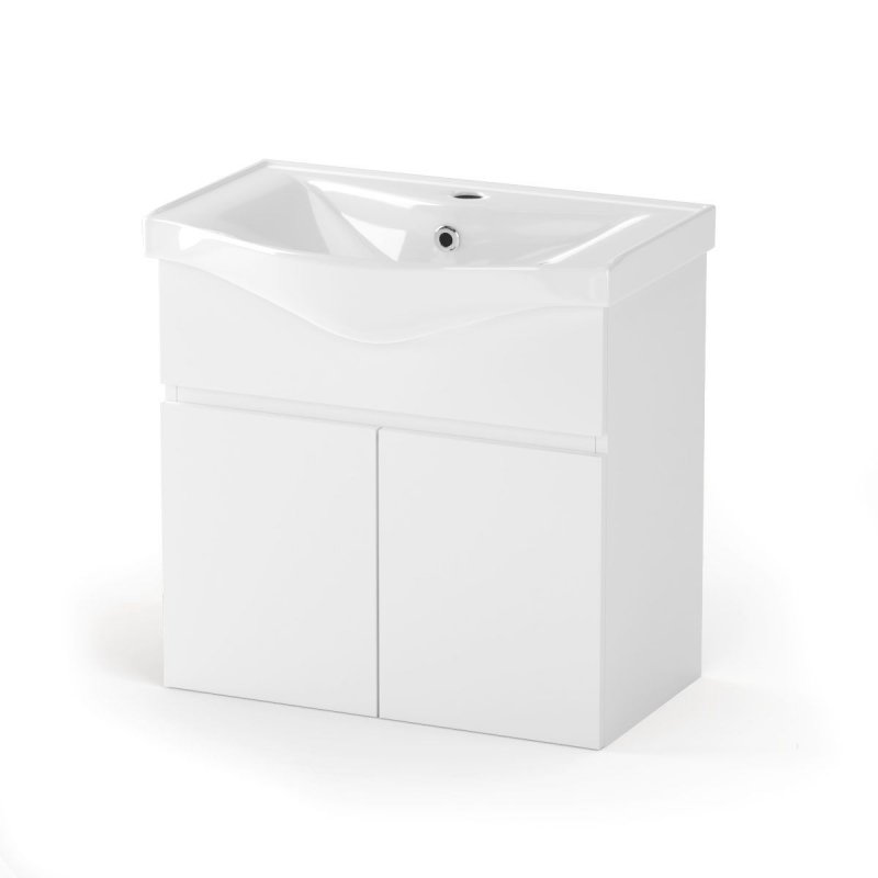 """Έπιπλο μπάνιου """"BIANCA"""" σε λευκό χρώμα 65x45x62"""