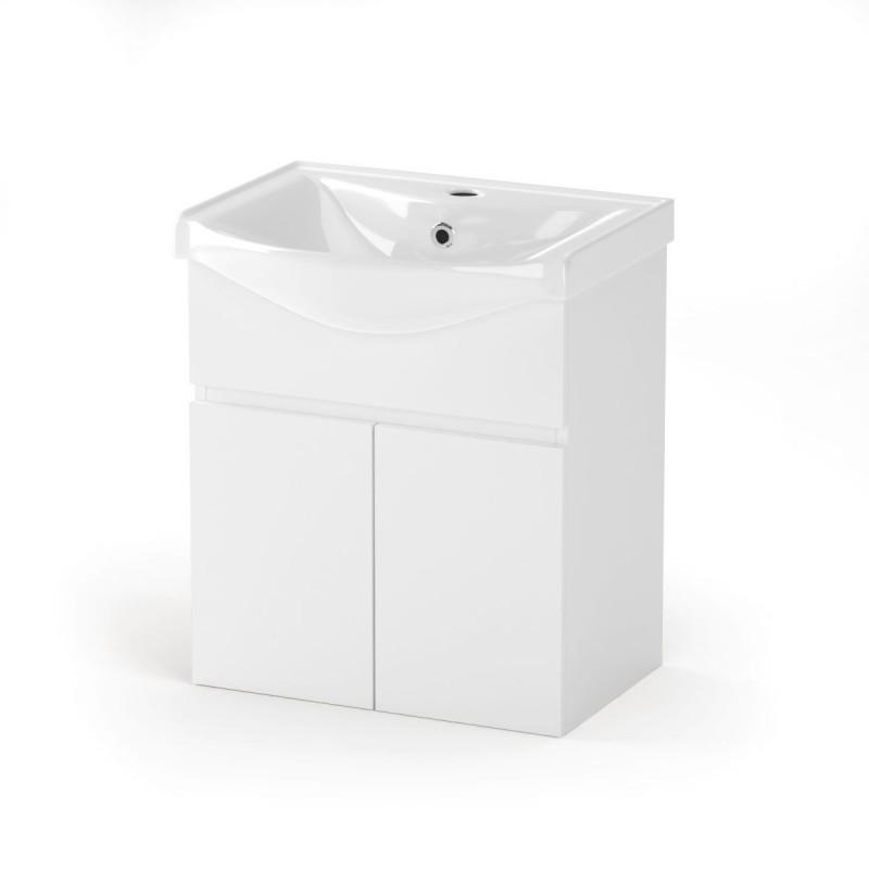 """Έπιπλο μπάνιου """"BIANCA"""" σε λευκό χρώμα 55x45x62"""