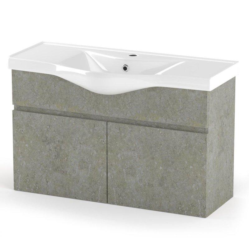 """Έπιπλο μπάνιου """"ARLENE"""" σε cemento χρώμα 100x45x62"""