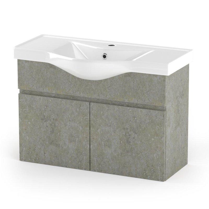"""Έπιπλο μπάνιου """"ARLENE"""" σε cemento χρώμα 90x45x62"""