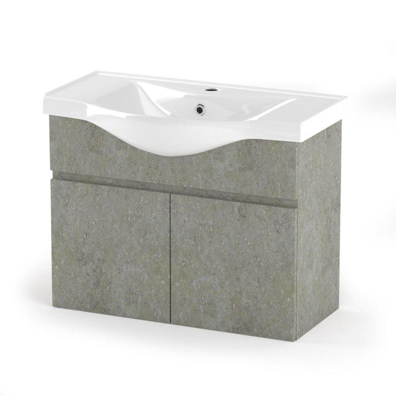 """Έπιπλο μπάνιου """"ARLENE"""" σε cemento χρώμα 80x45x62"""