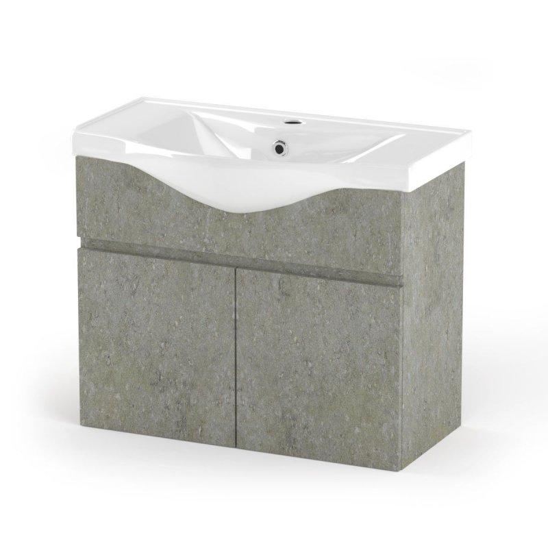 """Έπιπλο μπάνιου """"ARLENE"""" σε cemento χρώμα 75x45x62"""