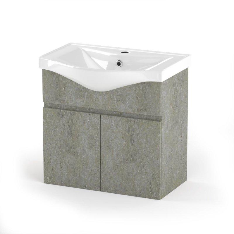 """Έπιπλο μπάνιου """"ARLENE"""" σε cemento χρώμα 65x45x62"""