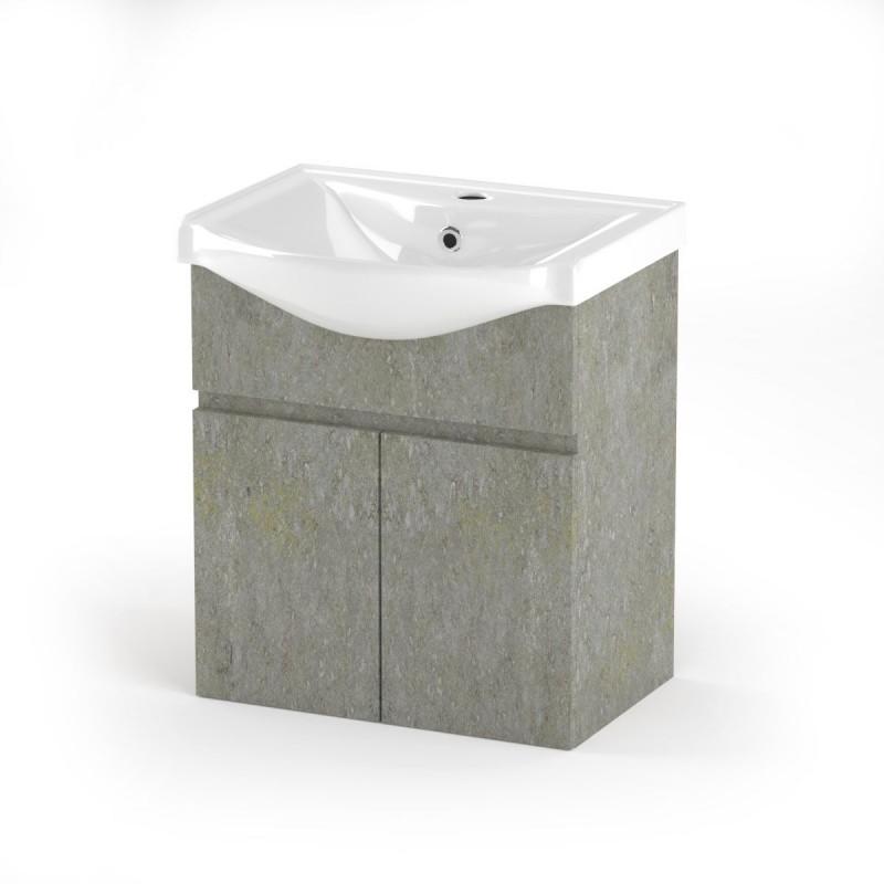 """Έπιπλο μπάνιου """"ARLENE"""" σε cemento χρώμα 55x45x62"""