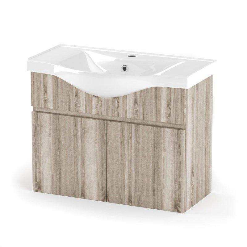 """Έπιπλο μπάνιου """"ODELIA"""" σε σονόμα χρώμα 80x45x62"""