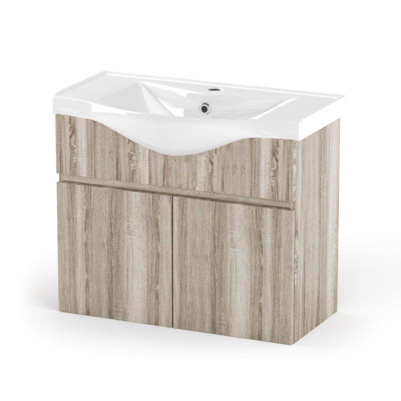 """Έπιπλο μπάνιου """"ODELIA"""" σε σονόμα χρώμα 75x45x62"""