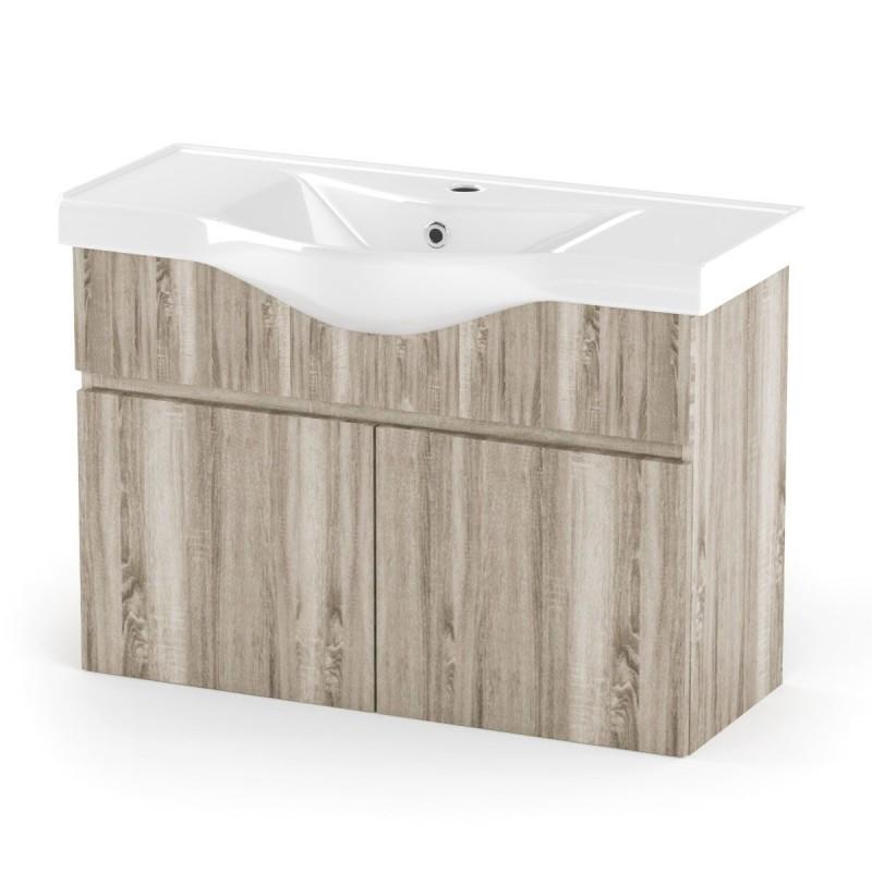 """Έπιπλο μπάνιου """"ODELIA"""" σε σονόμα χρώμα 90x45x62"""