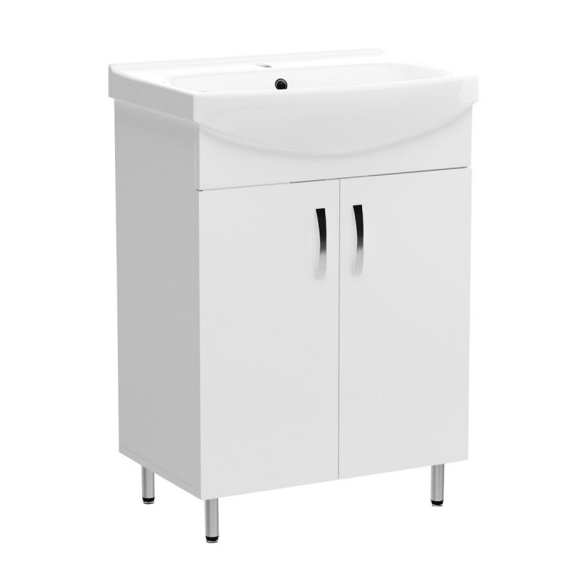 """Έπιπλο μπάνιου """"CERSANIA"""" σε λευκό χρώμα 59,2x40x85"""