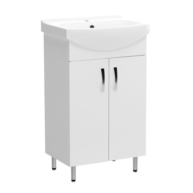 """Έπιπλο μπάνιου """"CERSANIA"""" σε λευκό χρώμα 50x37,50x85"""