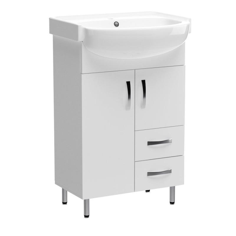 """Έπιπλο μπάνιου """"CERSANIA"""" σε λευκό χρώμα 56,5x45x86"""
