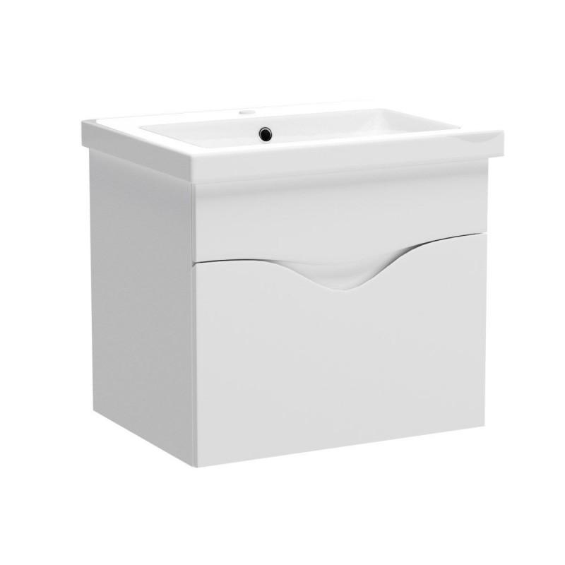 """Έπιπλο μπάνιου κρεμαστό """"SMILE"""" σε λευκό  χρώμα 60x45x53"""