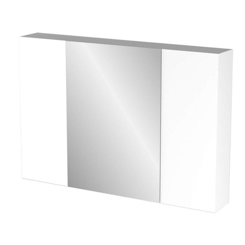 """Καθρέπτης μπάνιου """"BIANCA"""" σε λευκό χρώμα 96x14x65"""