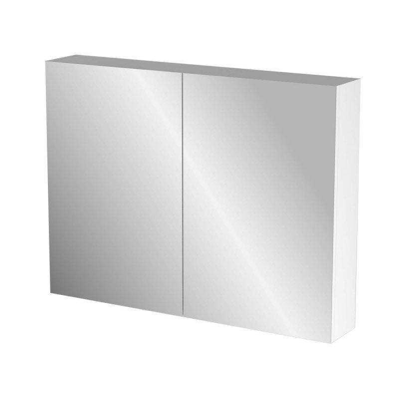 """Καθρέπτης μπάνιου """"BIANCA"""" σε λευκό χρώμα 86x14x65"""