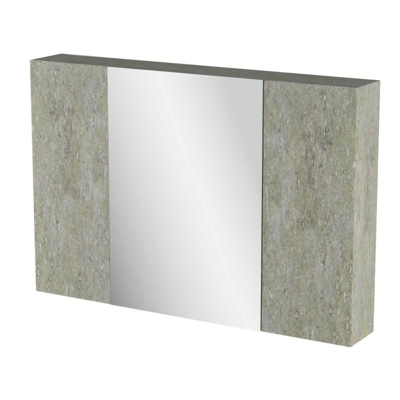 """Καθρέπτης μπάνιου """"ARLENE"""" σε cemento χρώμα 96x14x65"""