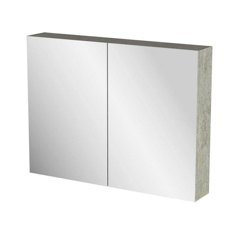 """Καθρέπτης μπάνιου """"ARLENE"""" σε cemento χρώμα 86x14x65"""