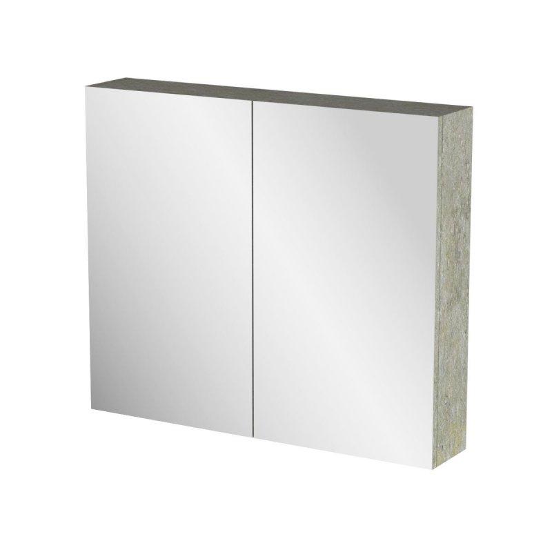 """Καθρέπτης μπάνιου """"ARLENE"""" σε cemento χρώμα 76x14x65"""