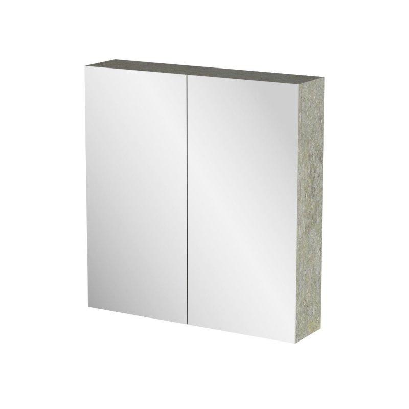 """Καθρέπτης μπάνιου """"ARLENE"""" σε cemento χρώμα 62x14x65"""