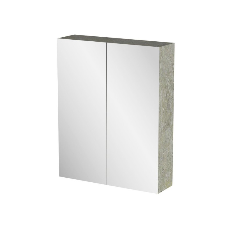 """Καθρέπτης μπάνιου """"ARLENE"""" σε cemento χρώμα 52x14x65"""