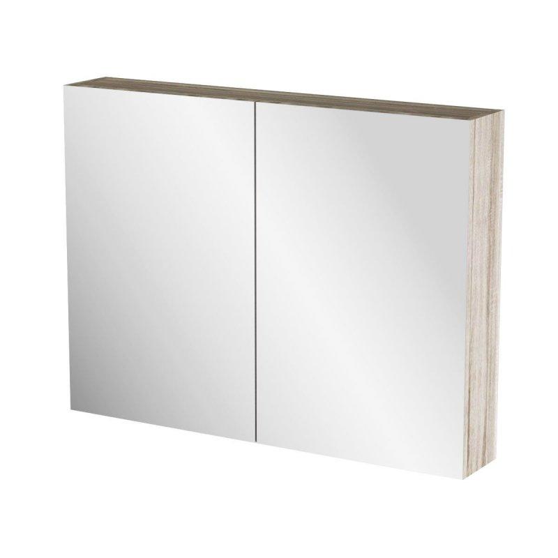 """Καθρέπτης μπάνιου """"ODELIA"""" σε sonoma χρώμα 86x14x65"""