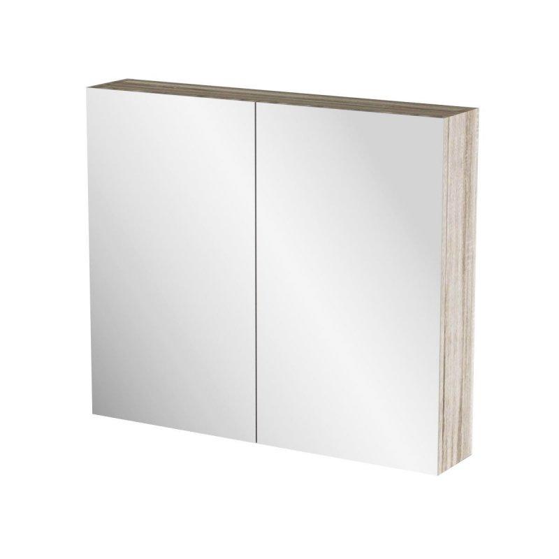 """Καθρέπτης μπάνιου """"ODELIA"""" σε sonoma χρώμα 76x14x65"""