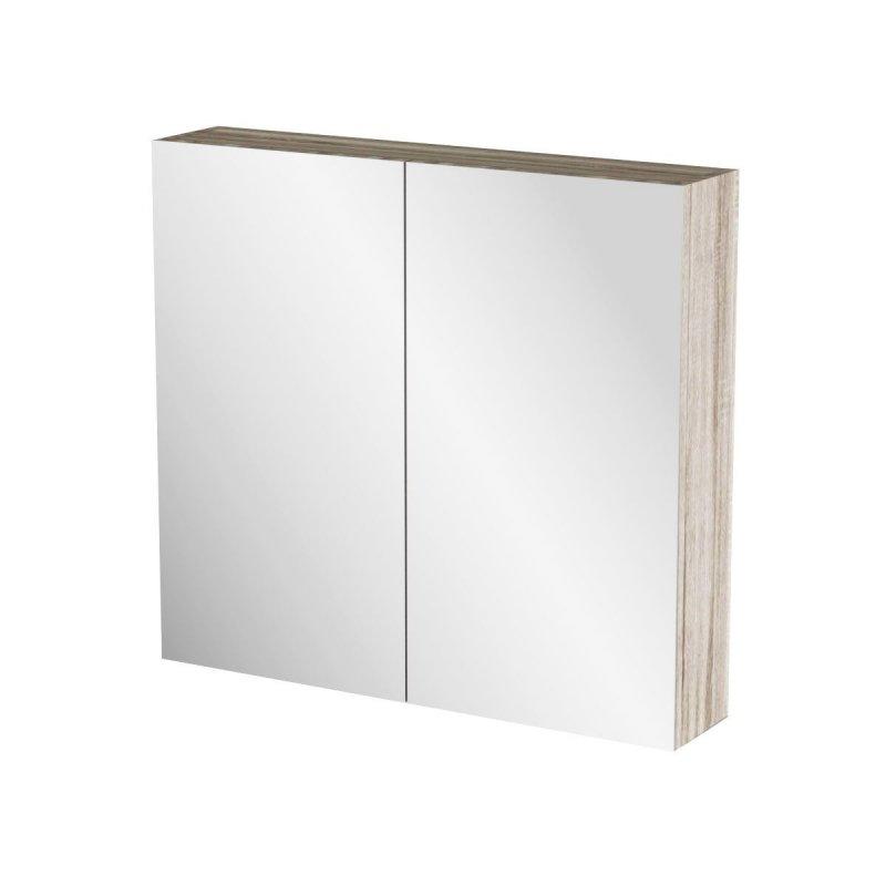 """Καθρέπτης μπάνιου """"ODELIA"""" σε sonoma χρώμα 71x14x65"""