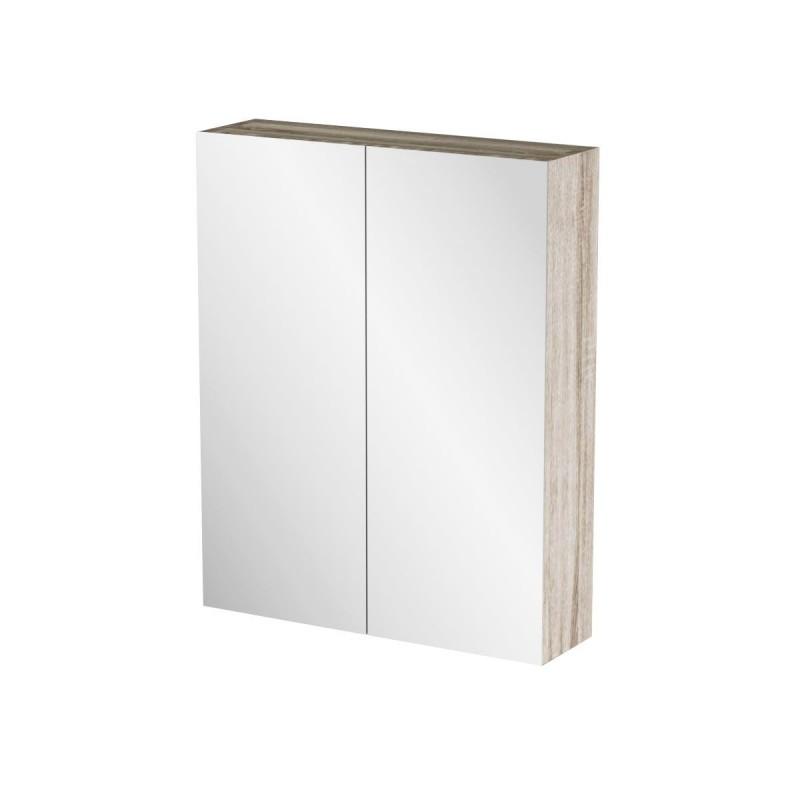 """Καθρέπτης μπάνιου """"ODELIA"""" σε sonoma χρώμα 52x14x65"""