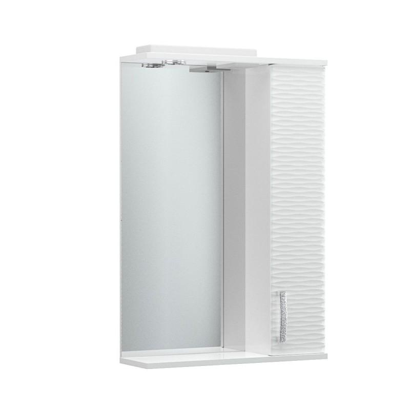 """Καθρέπτης μπάνιου 3D """"SMILE"""" με led φωτισμό σε λευκό χρώμα 56x17x83"""